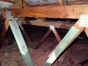 Coverup of termite damage 1