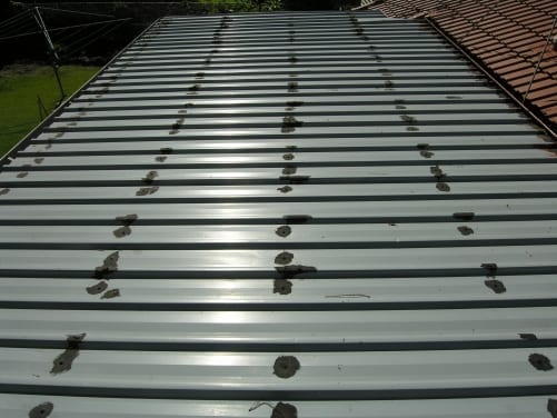 Roof with defects