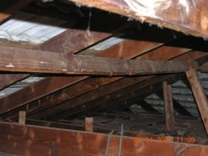 Danger of roof collapsing