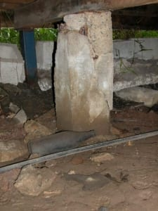 Fracturing of concrete stumps