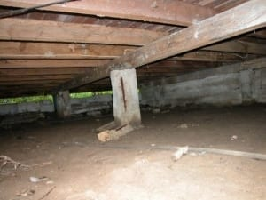 Fracturing concrete stumps