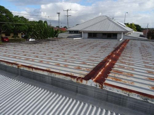 Rusted roof