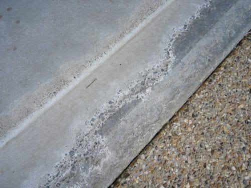 Concrete slab deterioration