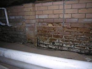 Subfloor seepage causing damage