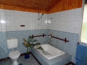 Queenslander style house with faulty bath