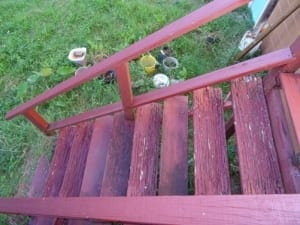 Rotting stairs & deck dangers