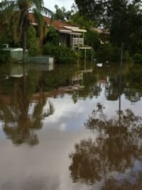Flooding effects around Brisbane