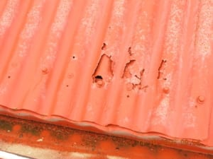 rusted roof sheeting