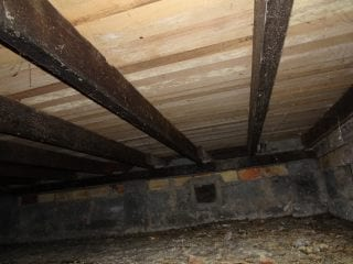 dry rot-rising damp-inadequate ventilation