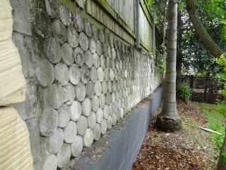 unsuitable retaining walls