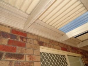 Securing of roof structure that is inadequate