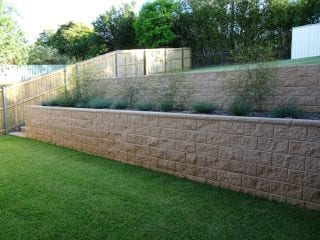 Defective retaining wall