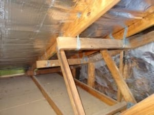 Cause of roof gable overhang sagging