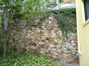 Defect to retaining wall