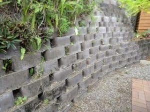 Danger of retaining wall movement