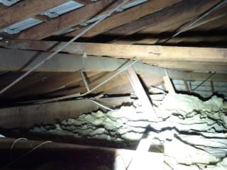 Badly constructed roof