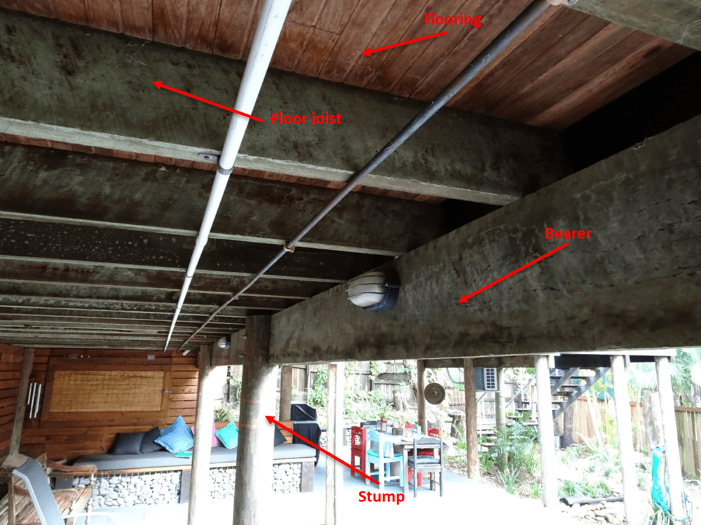 Sub Floor Structure Components Building Inspections