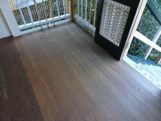 Unsuitable veranda floor