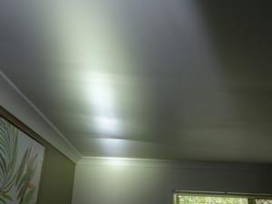 Dangerous sagging ceiling lining