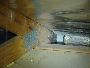 Gutter design causing rot to roof truss