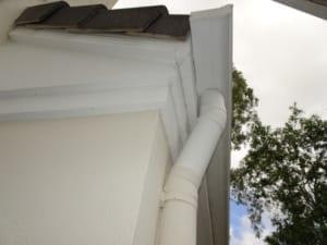 Gutter design causing rotting of roof frame