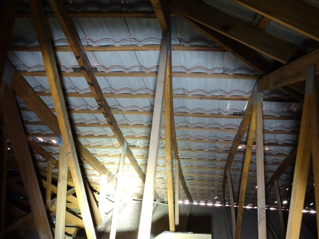 Bowing of roof trusses-Danger