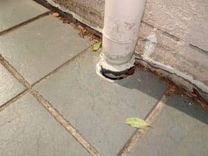 Damage to plumbing from movement of paving 1