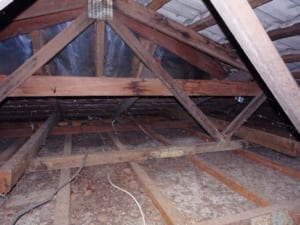 Common locations for roof leaking