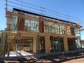 Framing of new house construction & inspection stages