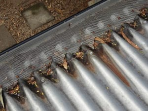 Roof rusting from gutter guards
