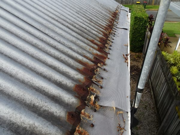 Roof gutter guard problem